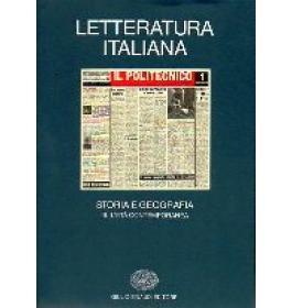 Letteratura italiana - Storia e Geografia III. L'Eta' Contemporanea