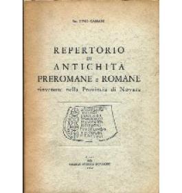 Repertorio di antichita' preromane e romane rinvenute nella provincia di Novara