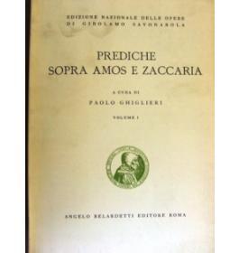 Prediche sopra Amos e Zaccaria. Volume I