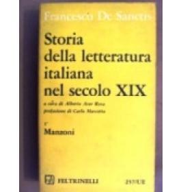 Storia della letteratura italiana nel secolo XIX. Vol I
