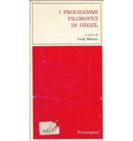 I programmi filosofici di Hegel